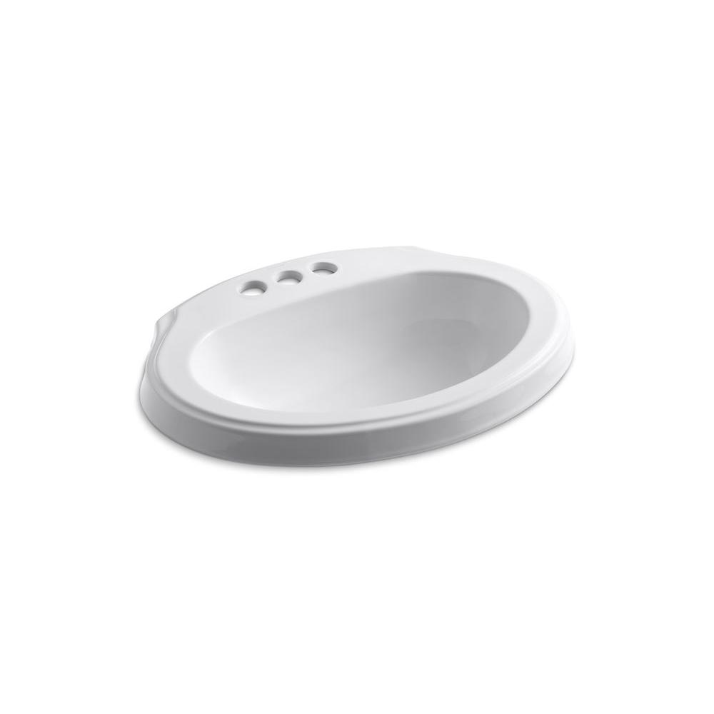 KOHLER Leighton Self-Rimming Bathroom Sink in White-DISCONTINUED