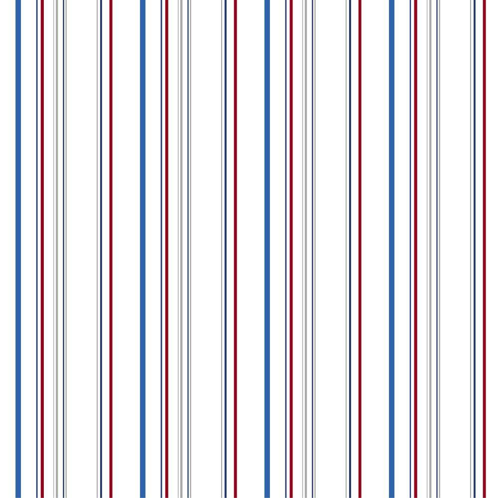 56 sq. ft. Walt Disney Kids II Wide Multi Stripe Wallpaper