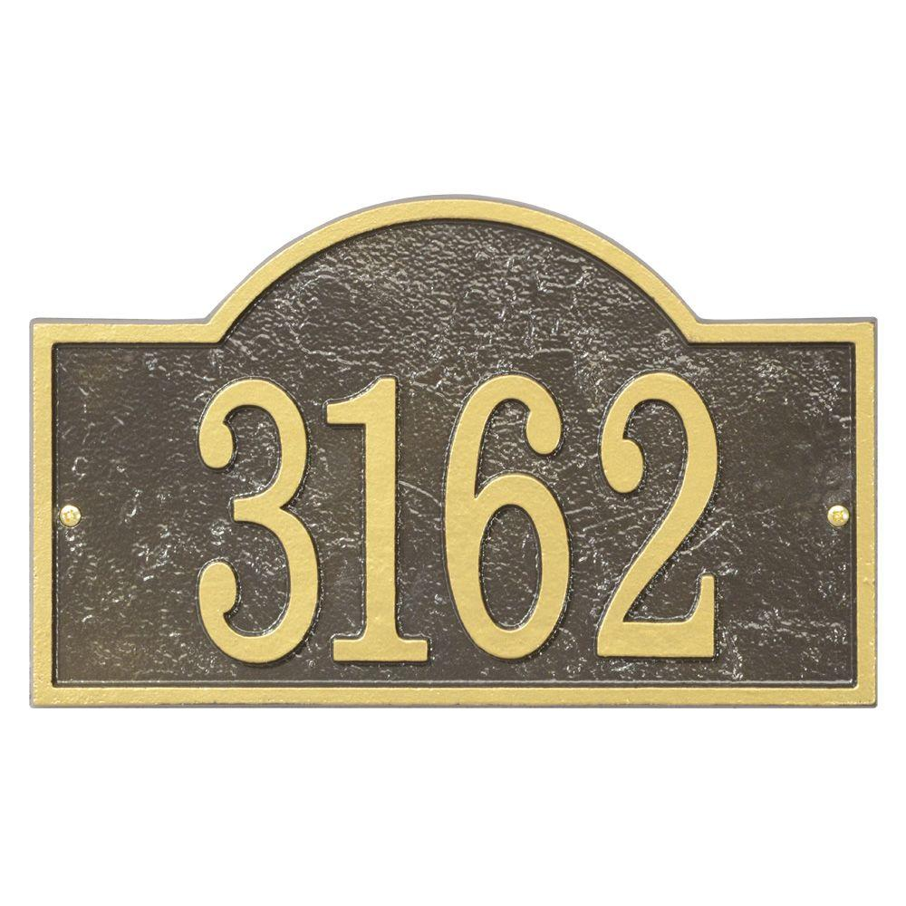 Whitehall Products Fast And Easy Arch House Number Plaque