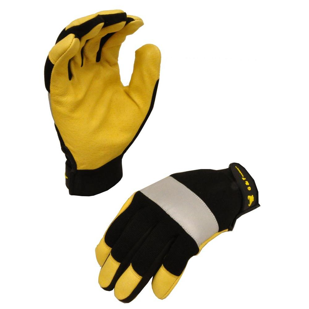 DarkOWL Large High Visibility Reflective Performance Gloves