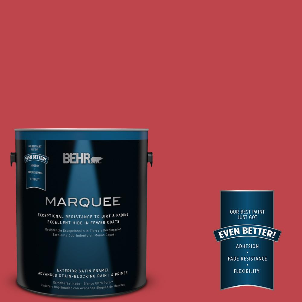 BEHR MARQUEE Home Decorators Collection 1-gal. #HDC-FL13-1 Glowing Scarlet Satin Enamel Exterior Paint
