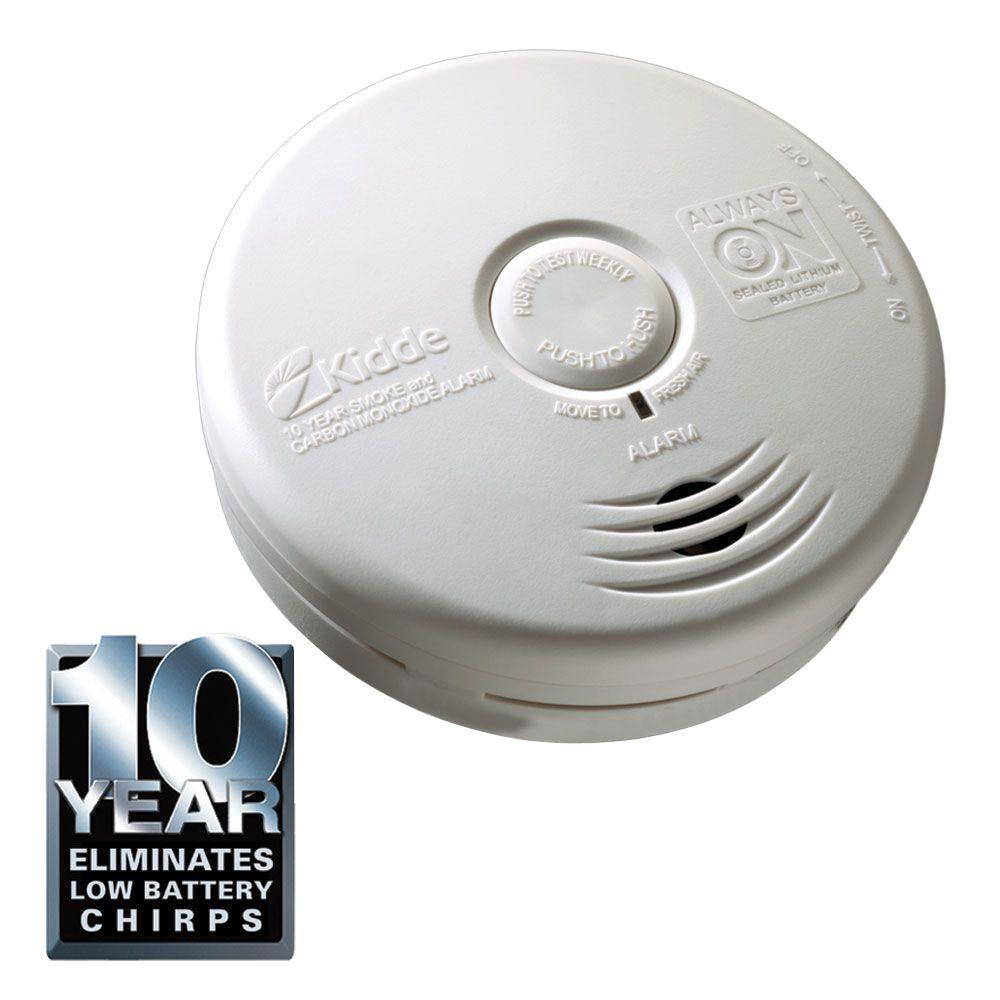 Kidde 10 Year Lithium Battery Operated Combination Smoke and Carbon Monoxide Alarm