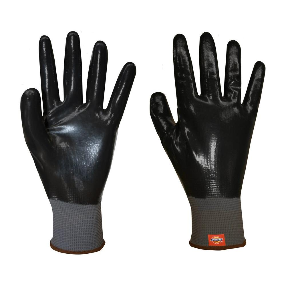 Dickies Fully Dipped Dark Green Smooth Nitrile Glove