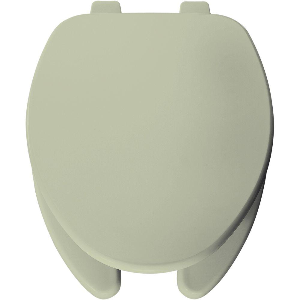 Church Elongated Open Front Toilet Seat in Bone