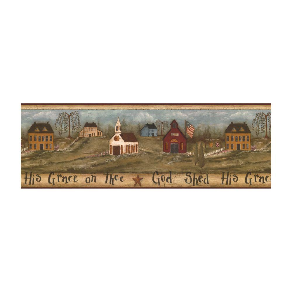 York Wallcoverings 9 in. God Shed His Grace Border-FK3944B - The