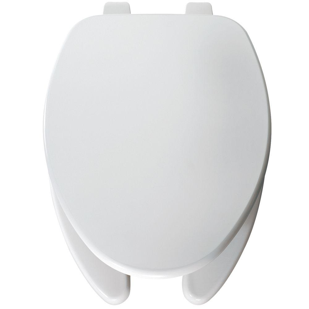Church Round Open Front Toilet Seat in White-560 000 - The