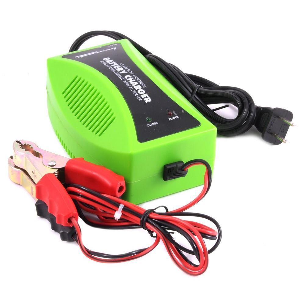 1.5 Amp 120-Volt Trickle Charger, Green