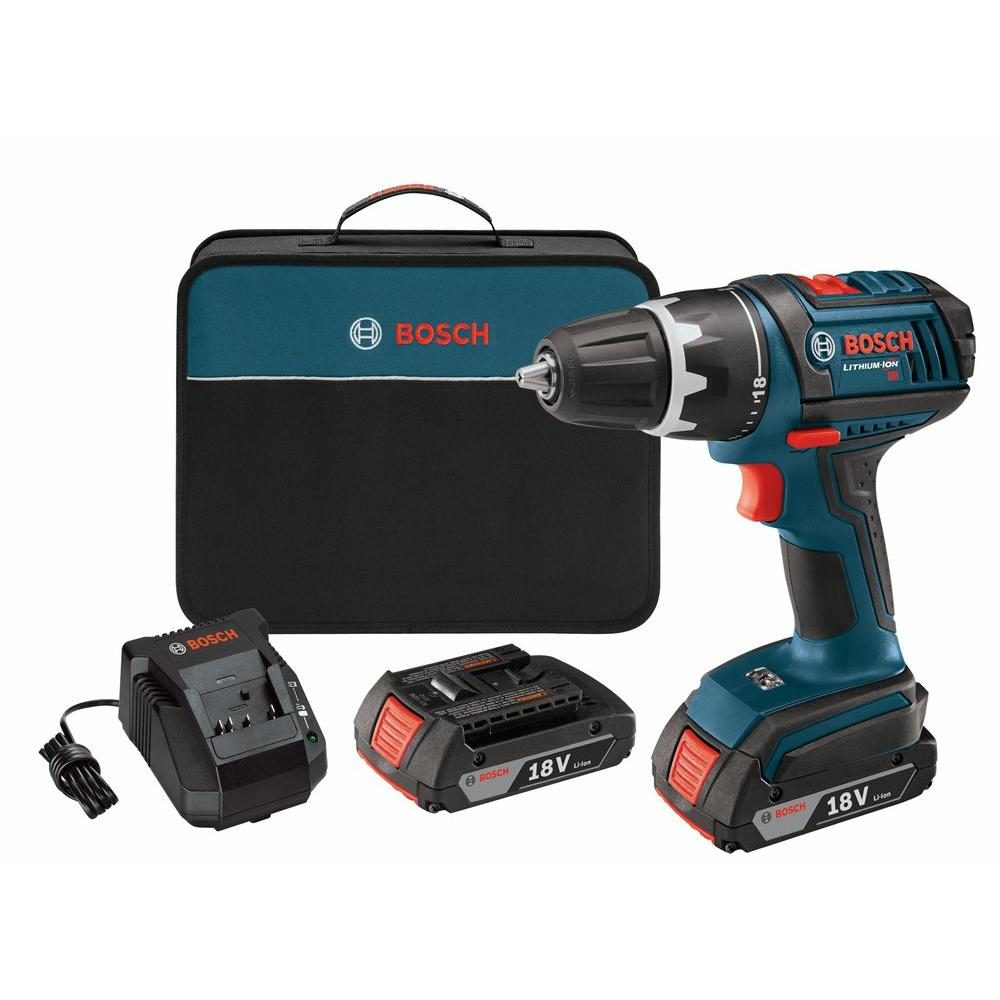 Bosch 18-Volt Compact Tough Drill Driver with (2) 1.3Ah Battery
