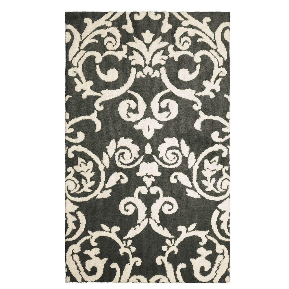 Halstead Plush Knit Gray 4 ft. x 6 ft. Accent Rug
