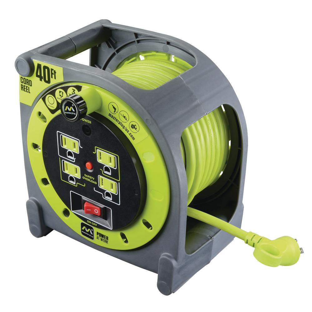 40 ft. 14/3 Case Cord Reel with 4-Outlets