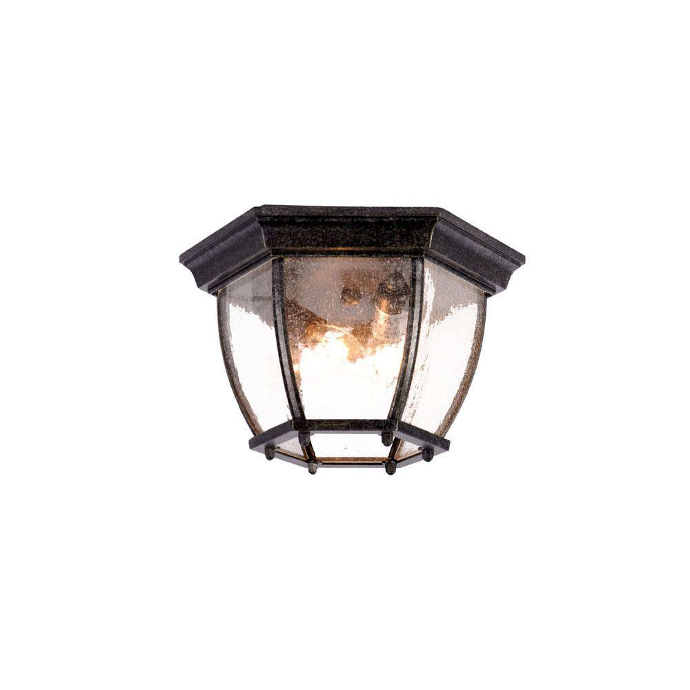 Acclaim Lighting Flushmount Collection Ceiling-Mount 3-Light Outdoor Stone Light Fixture