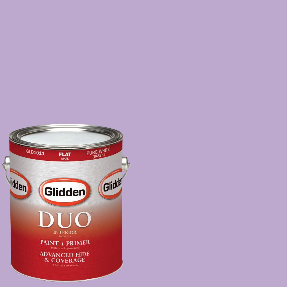 Glidden DUO 1-gal. #HDGV55 Sugared Plum Flat Latex Interior Paint with Primer