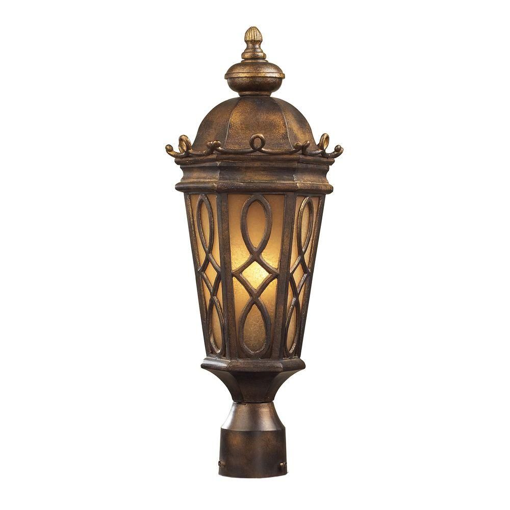 Outdoor Post Lights Nz: Home Decorators Collection Brimfield 3-Head Aged Iron