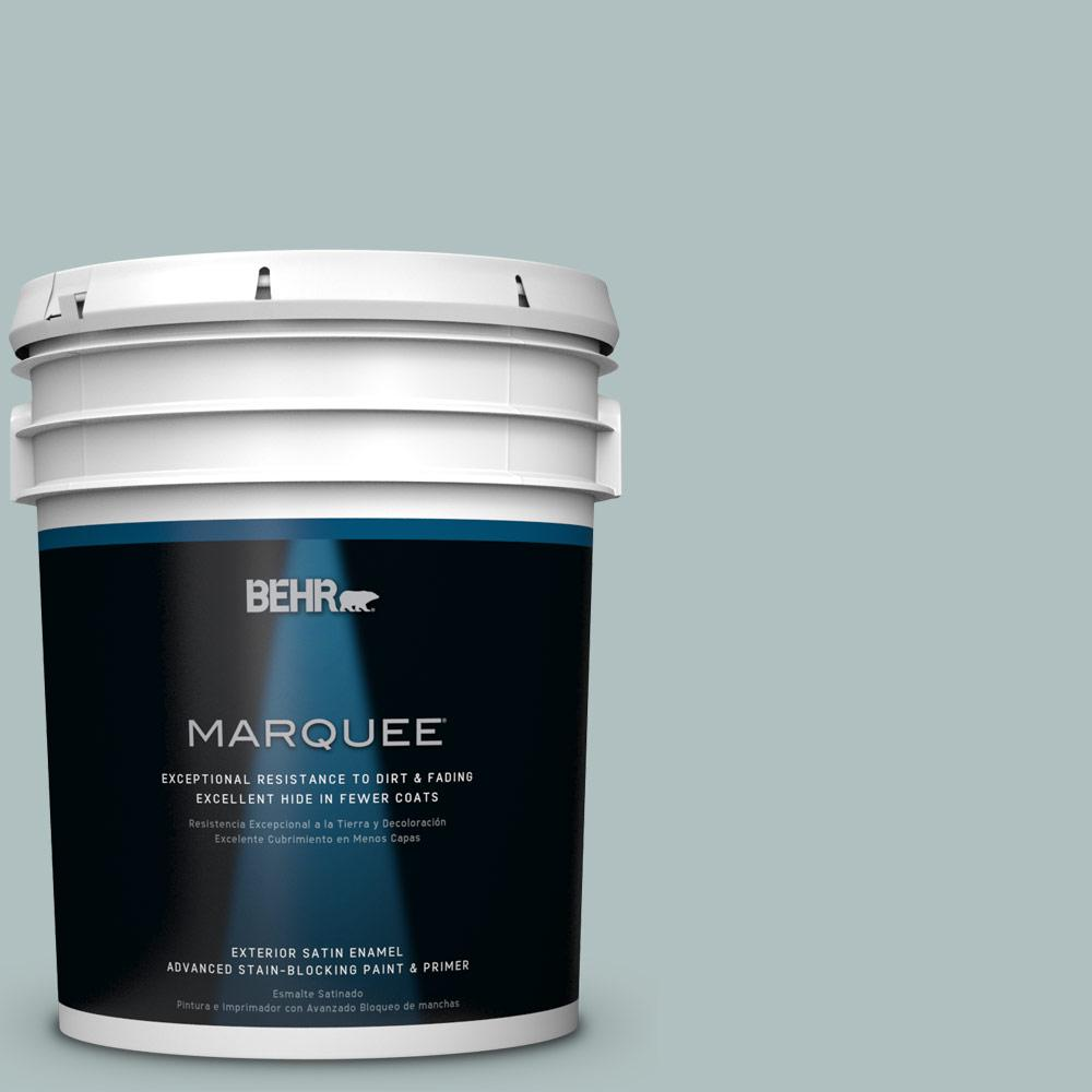 BEHR MARQUEE 5-gal. #HDC-CT-26 Watery Satin Enamel Exterior Paint