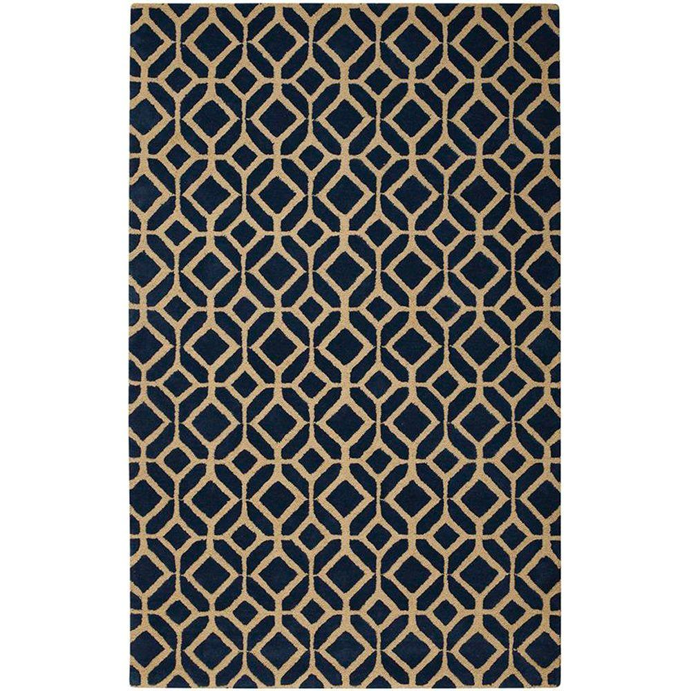 Home Decorators Collection Taza Blue 8 ft. x 11 ft. Area Rug