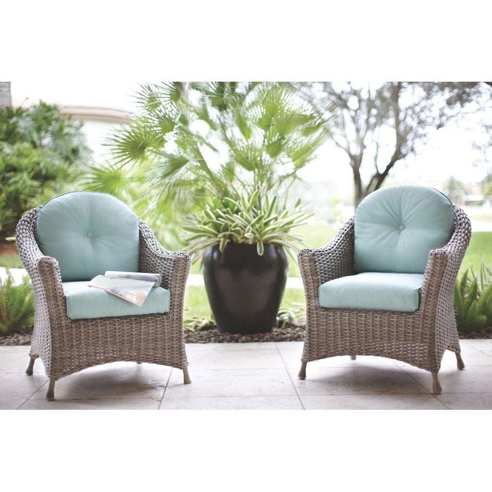 Martha Stewart Living Lake Adela Patio Whethered Grey Chat Chairs with