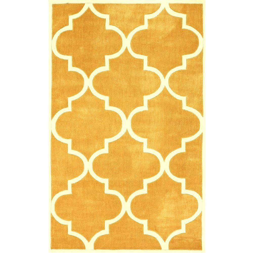 Fez Mustard (Yellow) 6 ft. x 9 ft. Area Rug