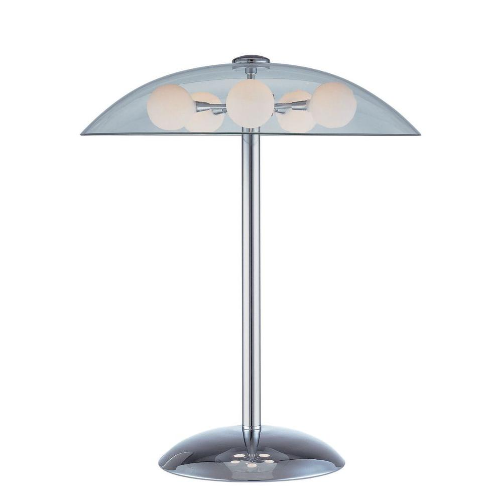 Illumine 20 in. Chrome Table Lamp with Frost Glass-CLI-LS-20737C/FRO - The