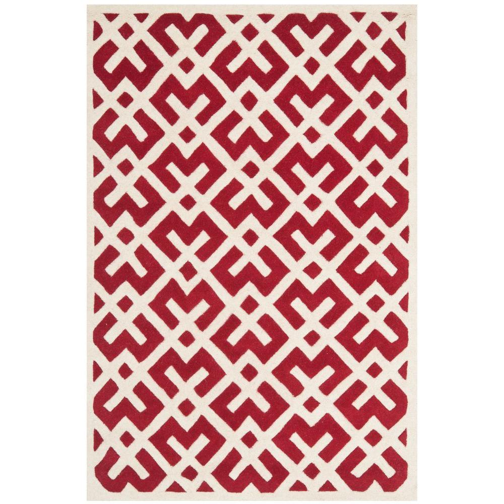 Safavieh Chatham Red/Ivory 8 ft. x 10 ft. Area Rug-CHT719G-8 -