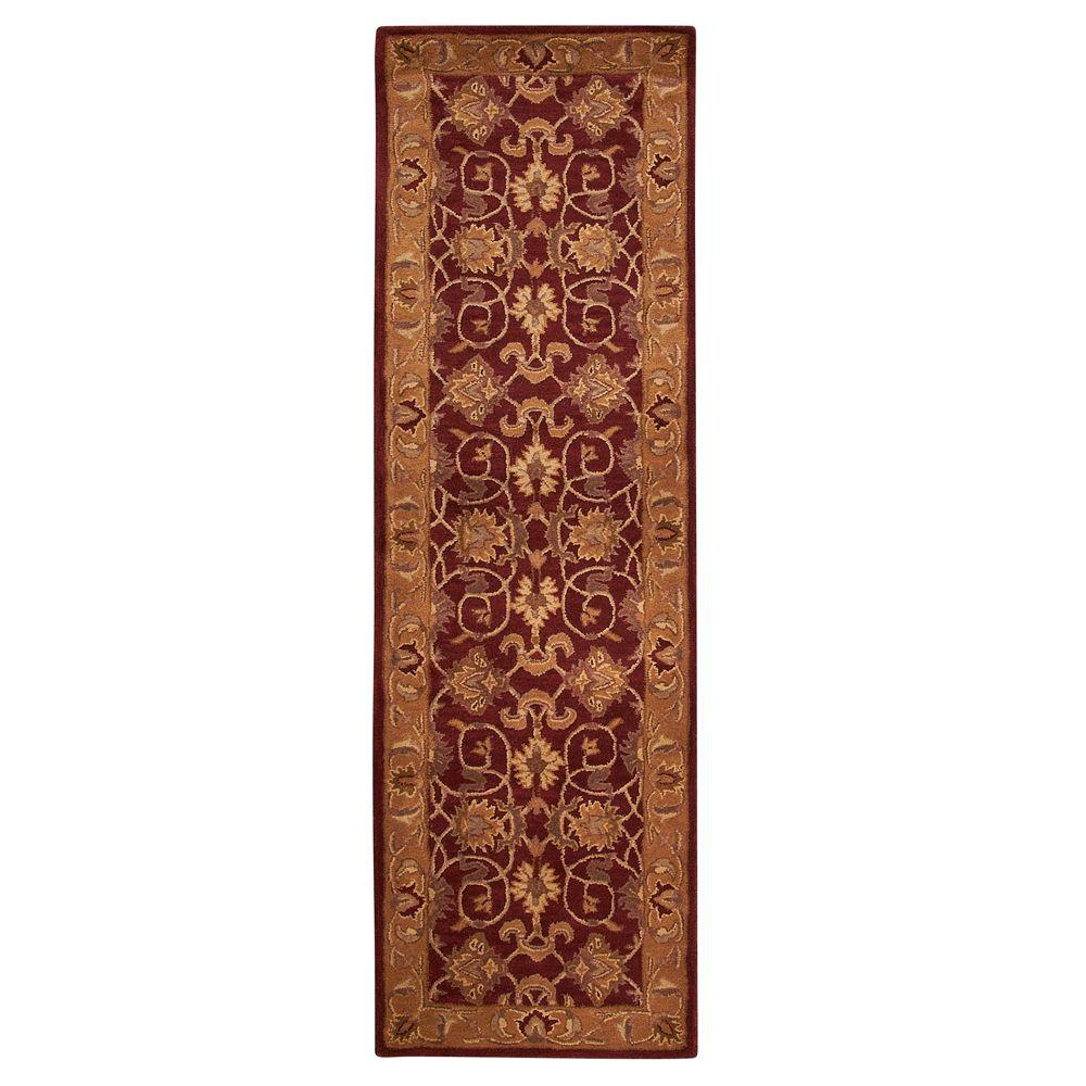 Home Decorators Collection Rochelle Red 2 ft. 3 in. x 9 ft. 6 in. Rug Runner