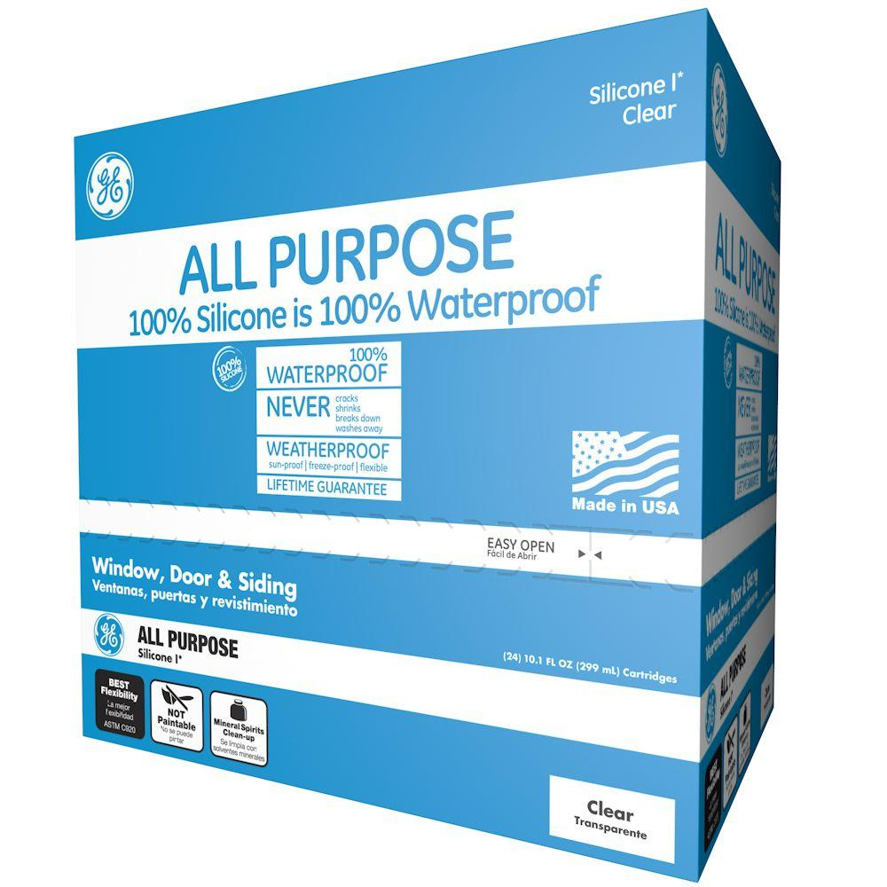 All Purpose Silicone I 10.1-oz. Clear Window and Door Caulk (24-Pack)
