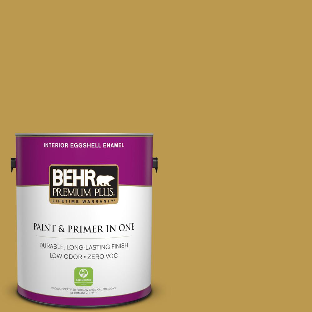 1-gal. #M320-6 Tangy Green Eggshell Enamel Interior Paint