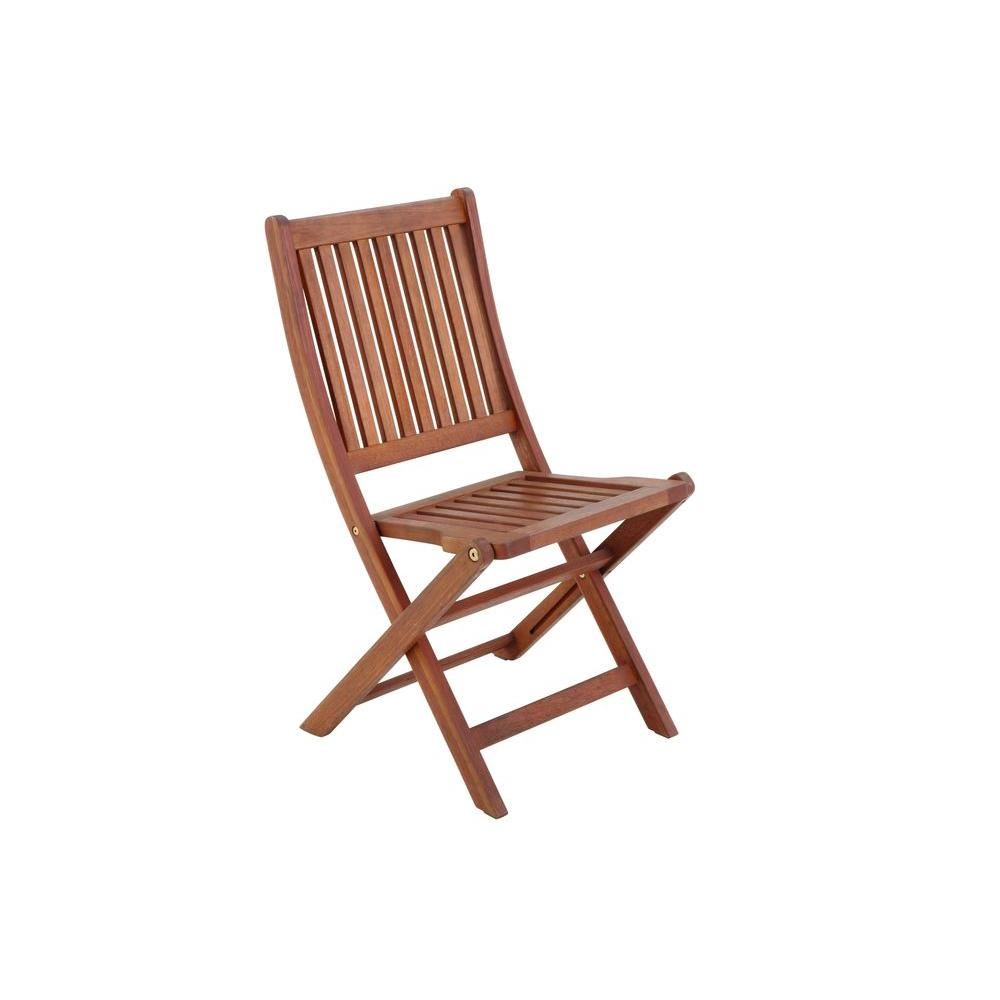 null Folding Wooden Patio Chair (2-Pack)