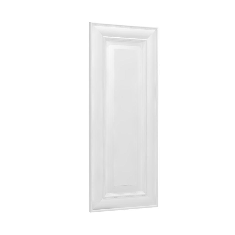 24x34.5x.75 in. Brookfield Matching Base End Panel in Pacific White
