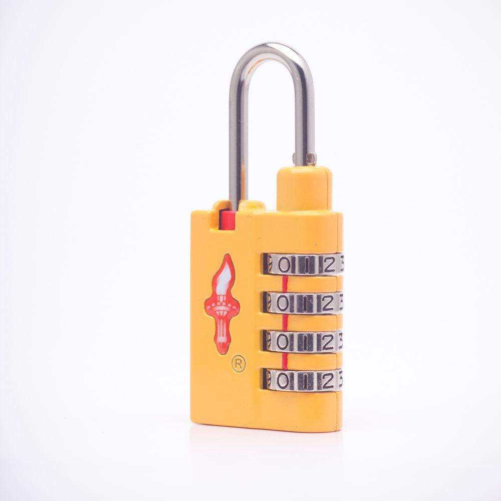 Safe Skies Global 4 Dial TSA Combination Lock in Sunburst Yellow-DISCONTINUED