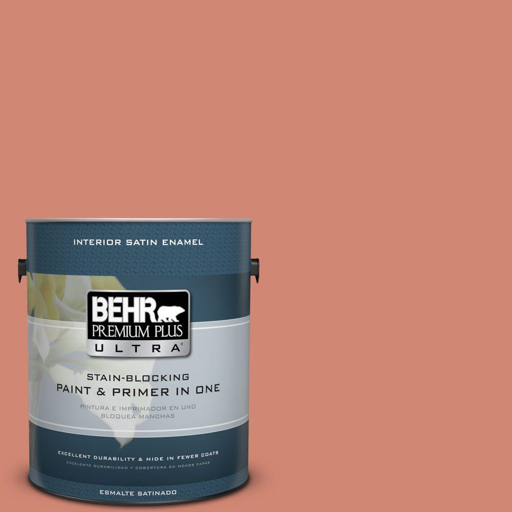 1 gal. #HDC-WR16-02 Rosy Copper Satin Enamel Interior Paint