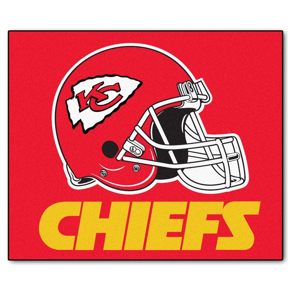 FANMATS Kansas City Chiefs 5 ft. x 6 ft. Tailgater Rug-5787