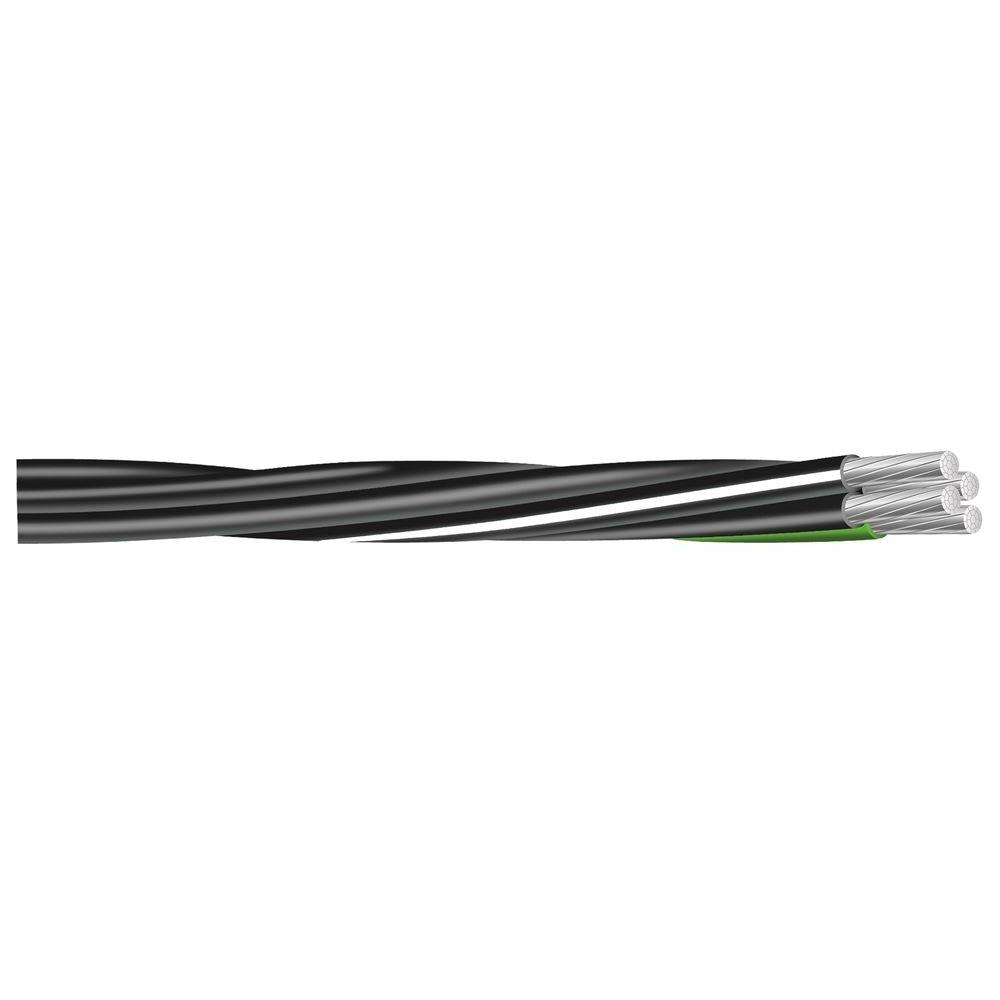 500 ft. 4/0-4/0-2/0-4 Black Stranded Al Mobile Home Feeder USE Cable