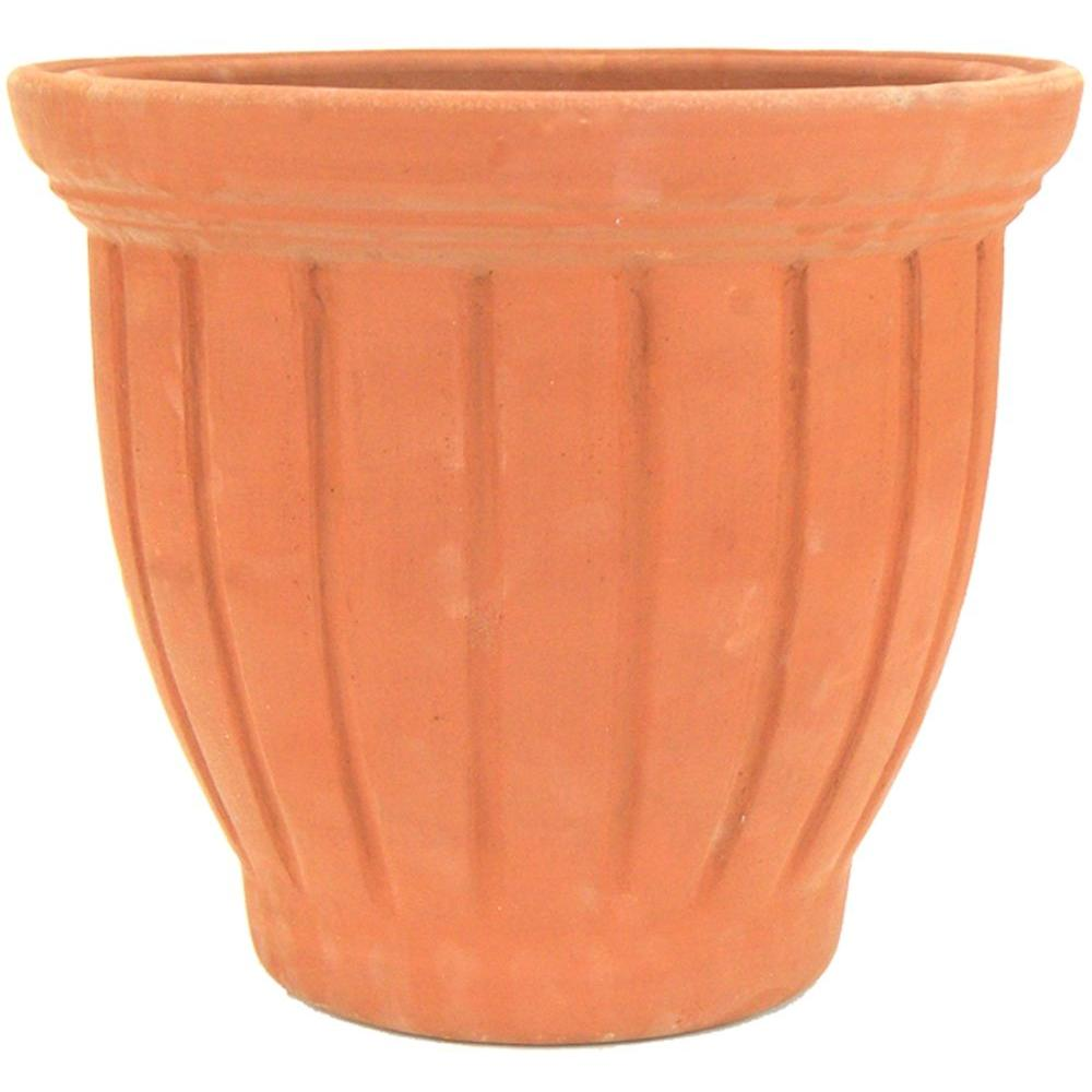 Ceramic Planters For Sale Part - 35: 13 In. X 10.5 In. X 13 In. TerraCotta Clay Tall