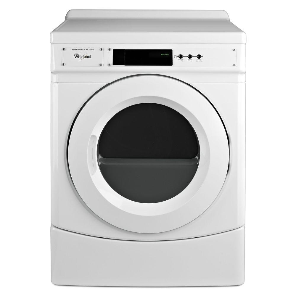 Whirlpool 6.7 cu. ft. Commercial Electric Dryer in White-CED9060AW - The