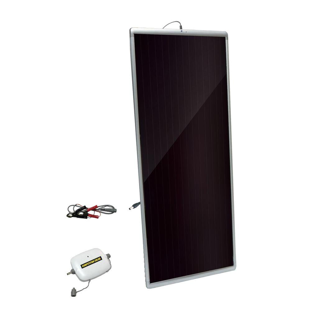 20-Watt Amorphous Solar Panel with 4-Amp Charge Controller and 12-Volt Battery