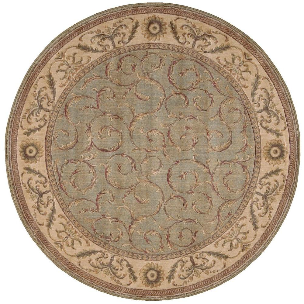 Nourison Scrollwork Meadow 5 ft. 6 in. Round Area Rug