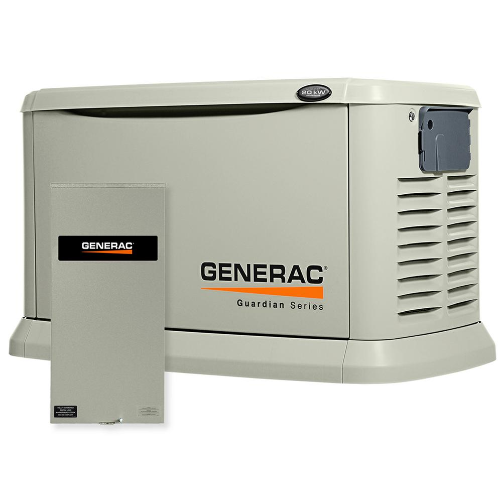Generac 20,000-Watt Air Cooled Automatic Standby Generator with 200 Amp SE Rated Transfer Switch