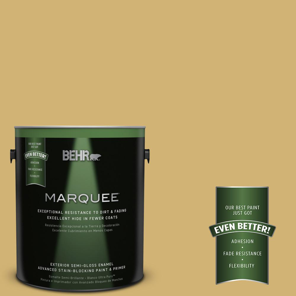 1-gal. #M320-5 Dried Chamomile Semi-Gloss Enamel Exterior Paint
