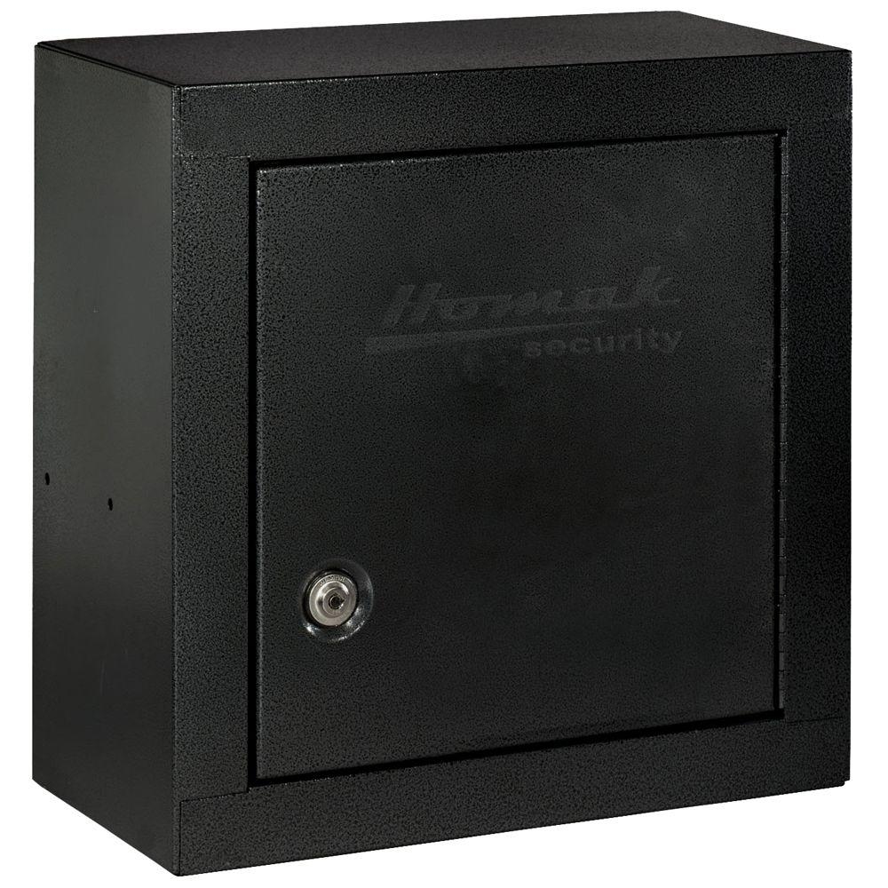 Homak Security 2.25 cu. ft. Black Upper Add-On Steel Security Cabinet