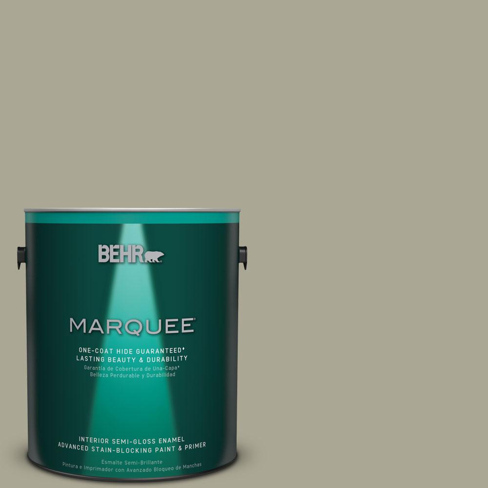 1 gal. #N350-4 Jungle Camouflage One-Coat Hide Semi-Gloss Enamel Interior Paint
