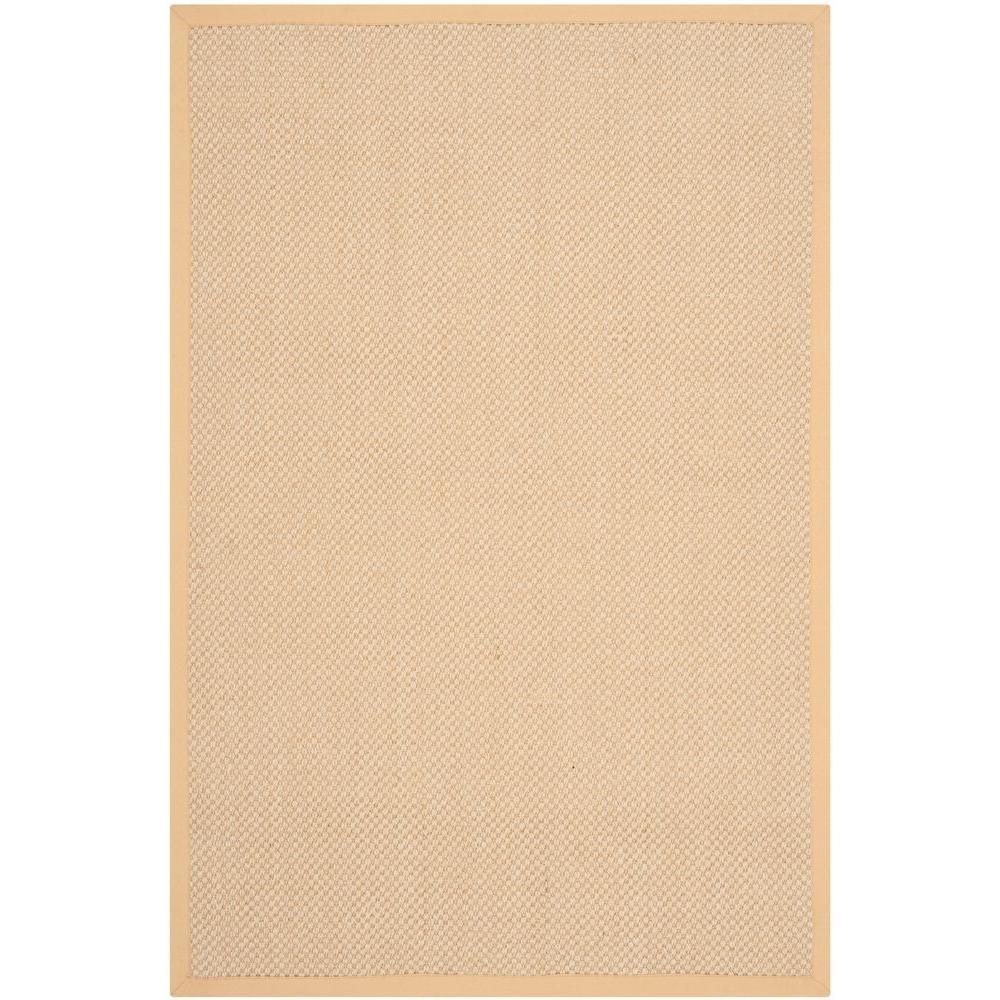 Natural Fiber Maize/Wheat 3 ft. x 5 ft. Area Rug