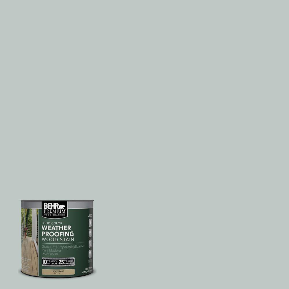BEHR Premium 8 oz. #SC365 Cape Cod Gray Solid Color Weatherproofing All-In-One Wood Stain and Sealer Sample