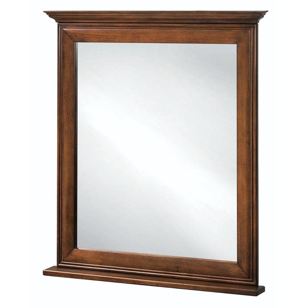 Home Decorators Collection La Grange 34 in. L x 30 in. W Framed Vanity Wall Mirror in Glazed Sienna