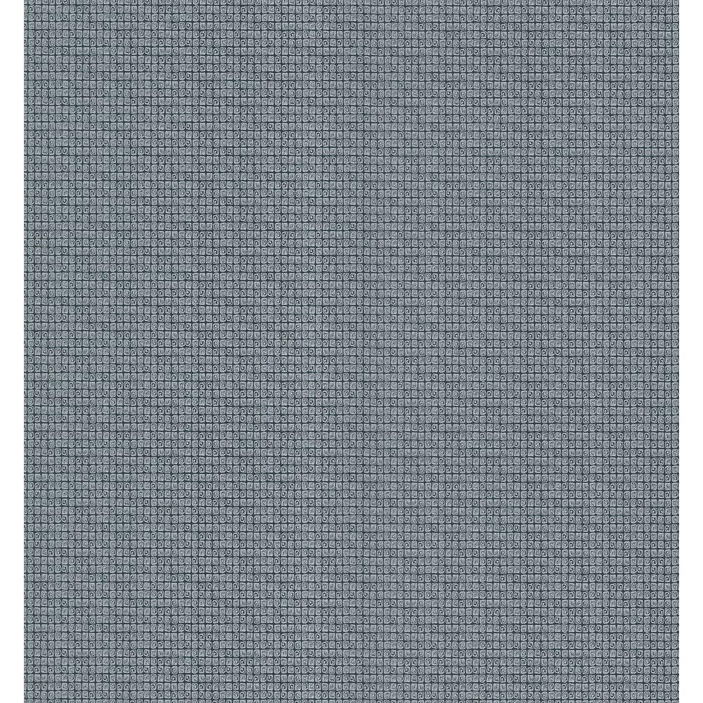Brewster 8 in. W x 10 in. H Small Grid Texture Wallpaper Sample