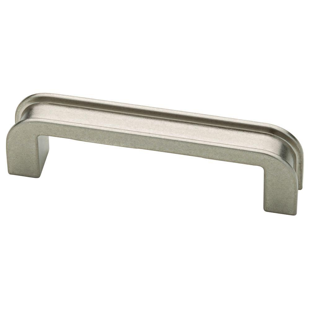 Martha Stewart Living 3 In 76mm Bedford Nickel Groove Cabinet Pull P20655c 475 Cp The Home