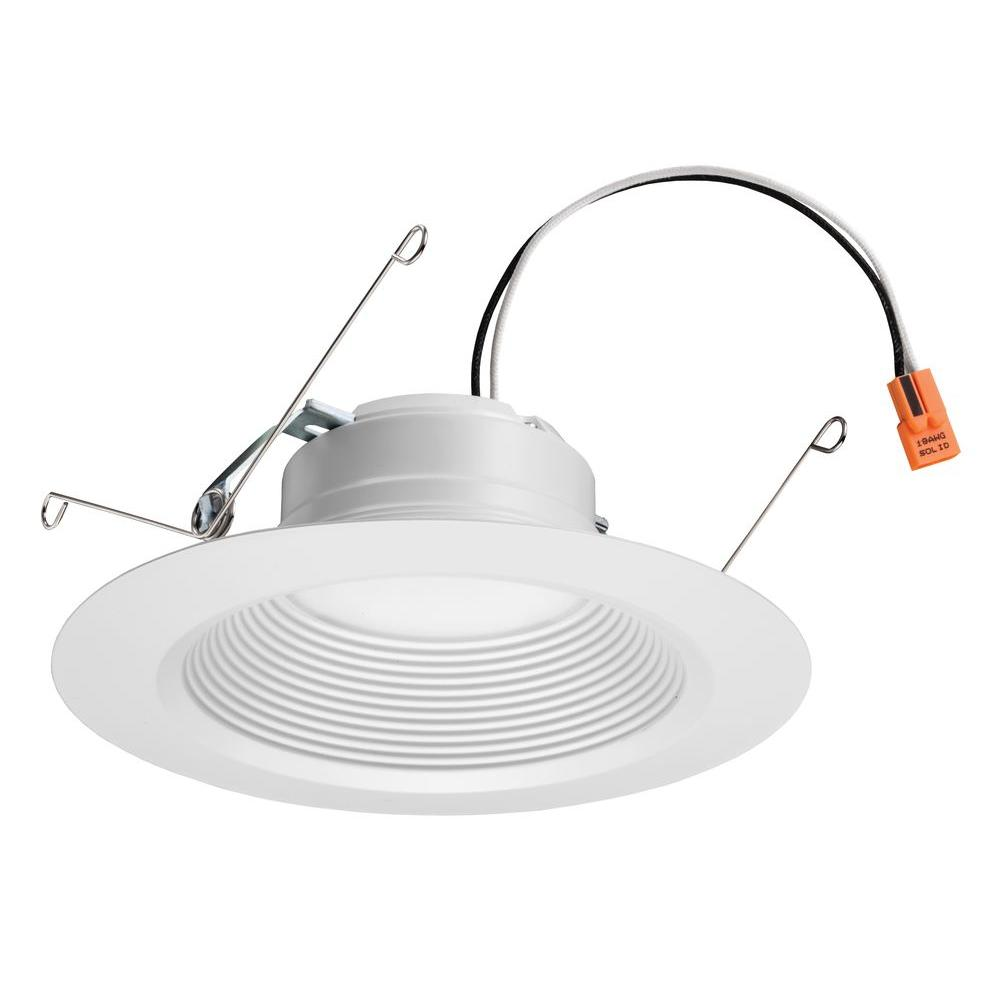 5 in. to 6 in. Matte White Recessed Baffle LED Module