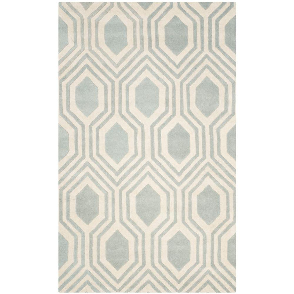 Safavieh Chatham Grey/Ivory 4 ft. x 6 ft. Area Rug-CHT760E-4 -