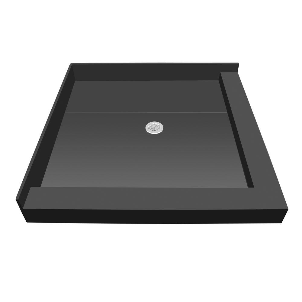 42 in. x 36 in. Double Threshold Shower Base with Center