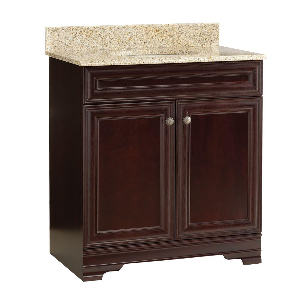 Home Decorators Collection Grafton 31 in. Vanity in Crimson with Granite