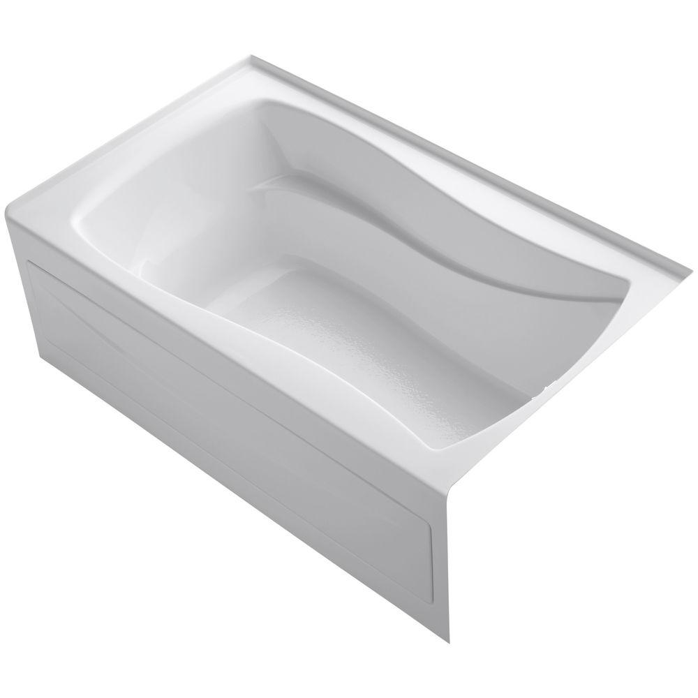 KOHLER Mariposa 5 ft. Right Drain Soaking Tub in White with